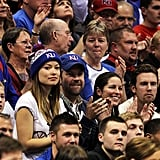 Jason and Olivia wore KU hats.