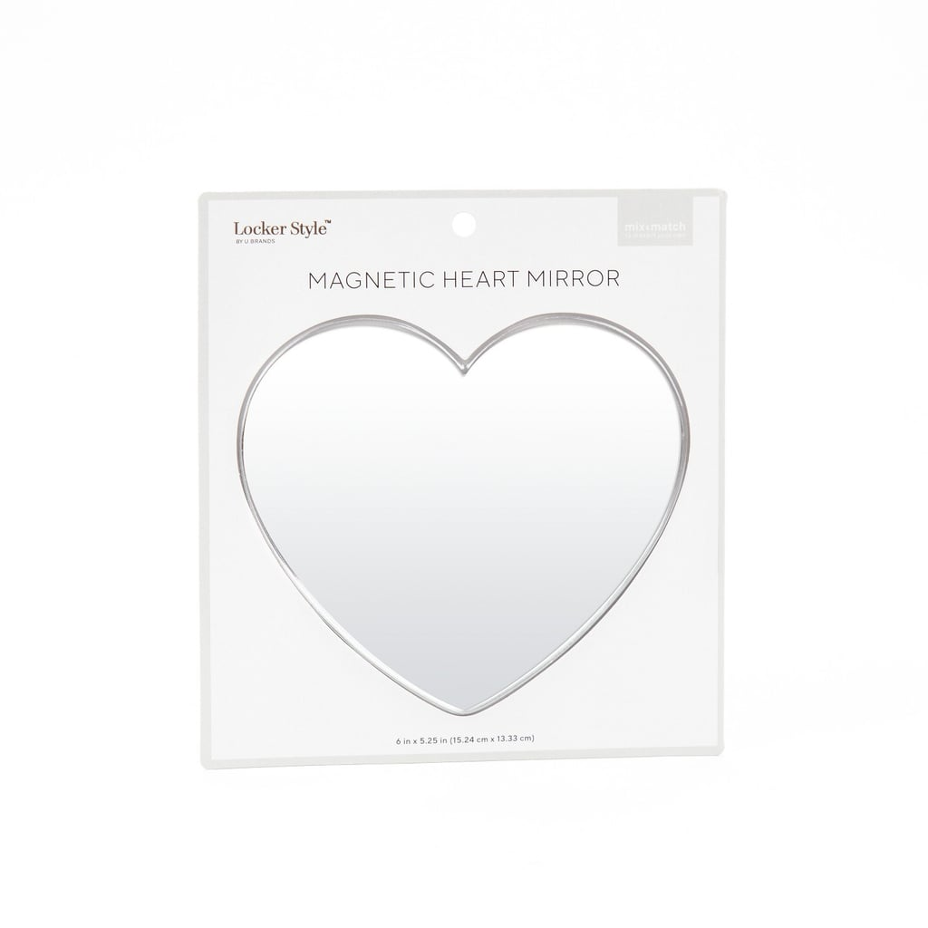 Locker Style Magnetic Heart Mirror
