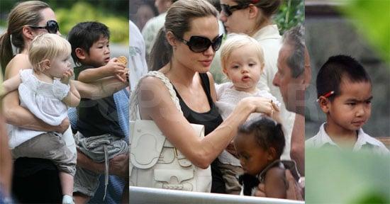 Angelina & Kiddies At The Zoo!! Cuteness Maximus!!