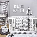 The Peanut Shell Elephant 4-Piece Crib Bedding Set