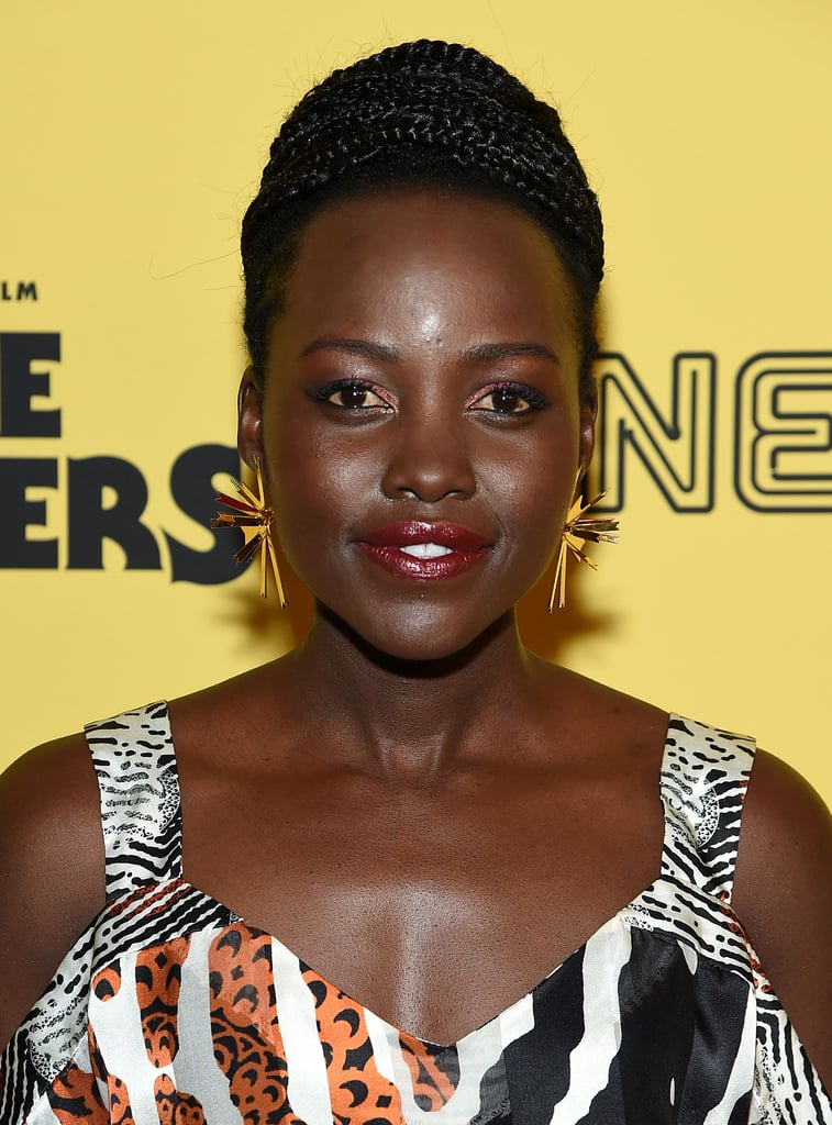 Lupita Nyongo's Cherry-Red Lids and Lips