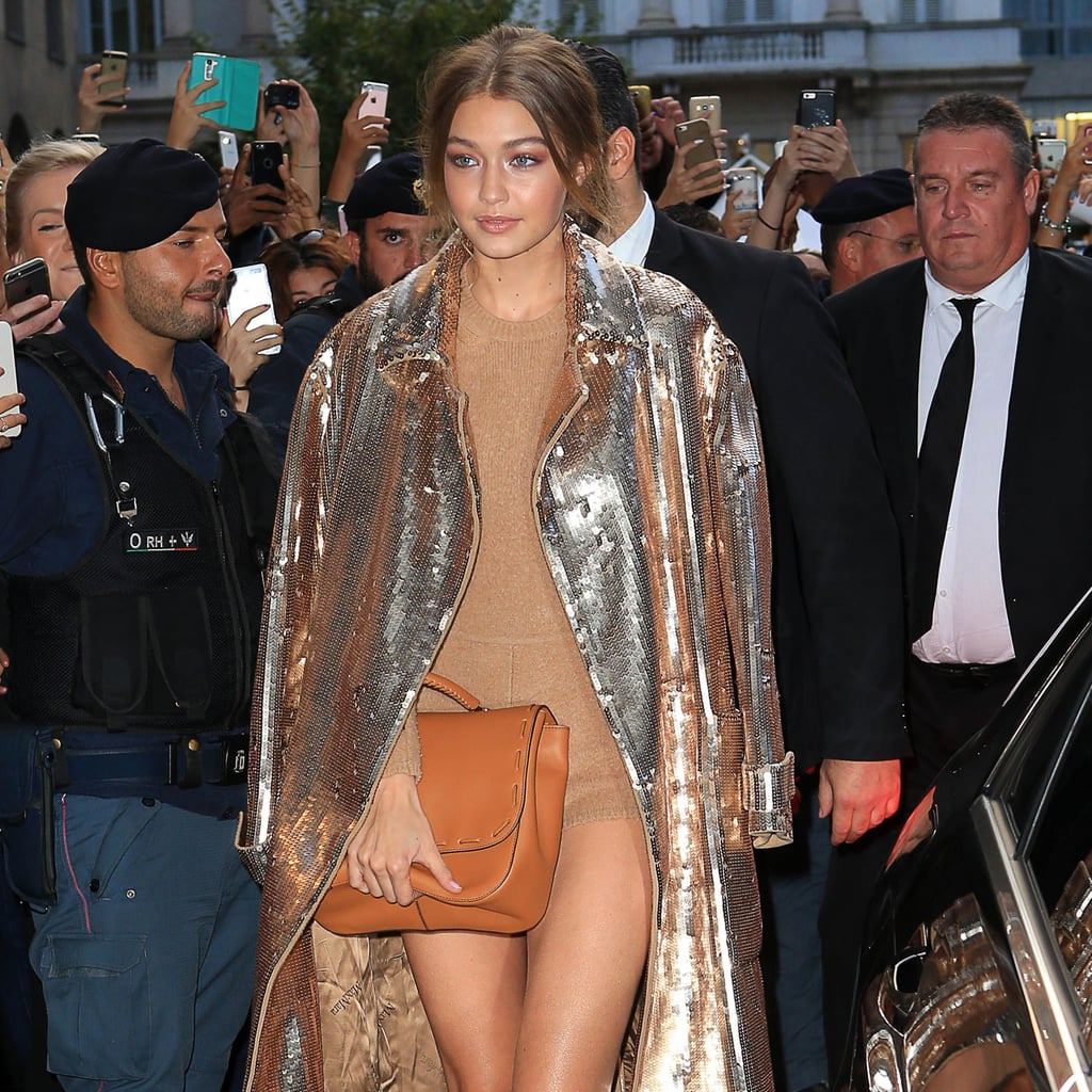 Gigi Hadid Wears a Leotard at Milan Fashion Week