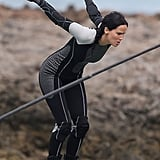Jennifer Lawrence as Katniss Everdeen in Catching Fire.