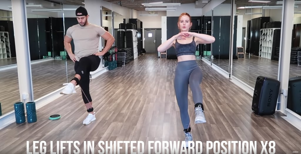 On your eighth rep, pulse your lifted leg up and down eight times. Then, repeat the last two exercises for the other leg.