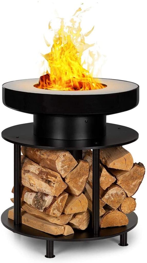 Blumfeldt Wood Stock 2-in-1 Ring of Fire Bowl & BBQ Grill