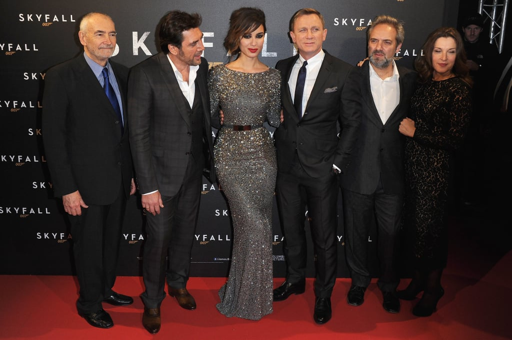 Javier Bardem, Bérénice Marlohe, Daniel Craig, and Sam Mendes walked the red carpet for the Paris premiere of Skyfall.