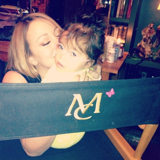 Mariah Carey shared an early holiday snapshot with her daughter Monroe. Source: Instagram user mariahcarey