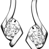 Sirena Diamond Drop Earrings in 14k White Gold ($2,400)