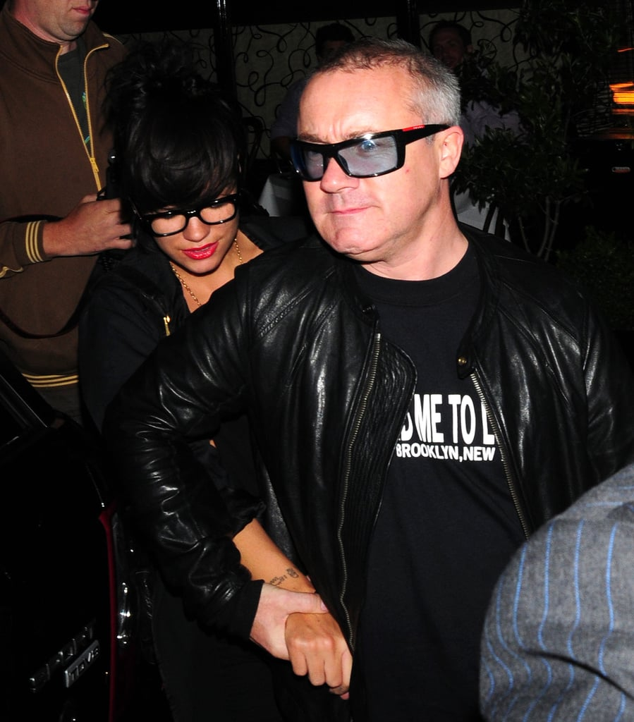 Lily Allen and Damien Hirst