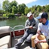 Justin Timberlake With Son Silas at PGA Golf Tour 2019