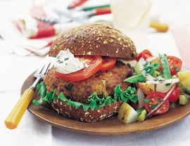 Fast & Easy Dinner: Tempeh-Walnut Burgers