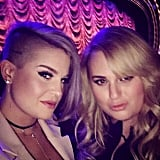 """Two sexy bitches ready to watch @jlo! @rebelwilson and myself are pumped! #WaitingForTonigh"""