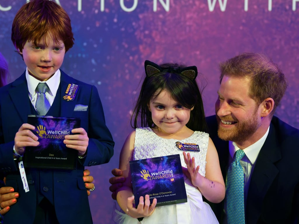 When He Got Up on Stage With Kids at the WellChild Awards