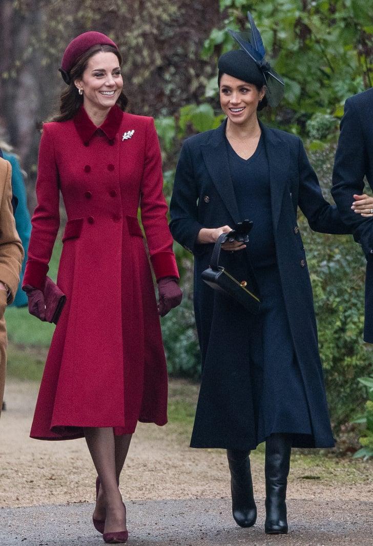 Kate Middleton Red Coat On Christmas Day 2018 Popsugar