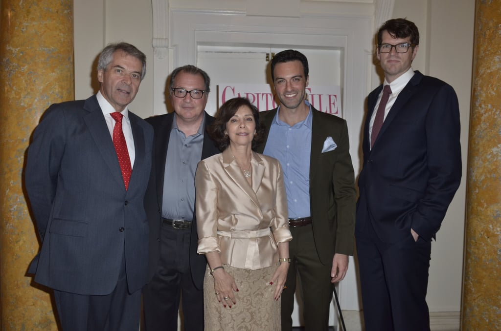 British diplomat Peter Westmacott and his wife, Susie Nemazee, got face time with Veep actors Kevin Dunn, Reid Scott, and Timothy Simons at the Capitol File event on Friday.