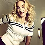 """Madonna fought back against fans who disliked her fronts, writing on Instagram that they are """"here to stay."""" Source: Instagram user madonna"""
