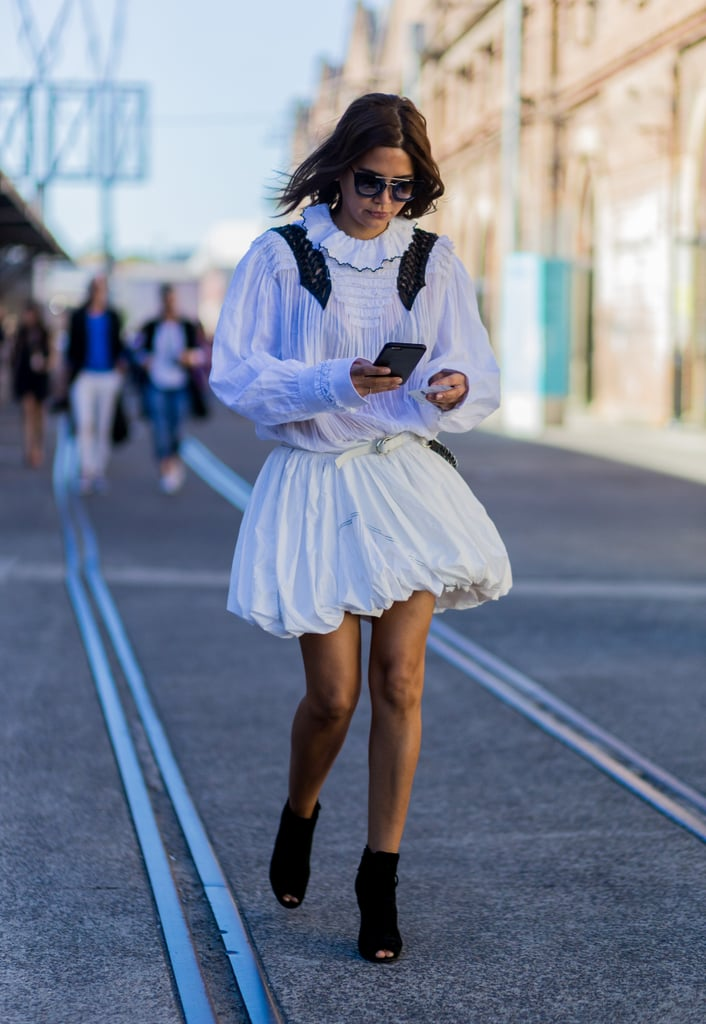A Victorian-Inspired Outfit Is Made Modern With Chic Sunglasses and Booties