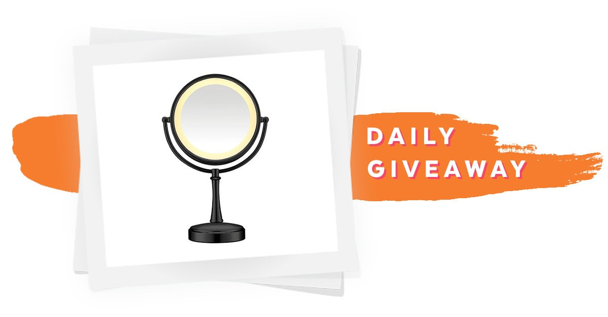 conair black touch control lighted makeup mirror giveaway popsugar