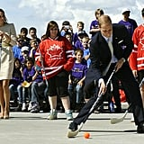 Prince William wowed the crowd as he played a little hockey.