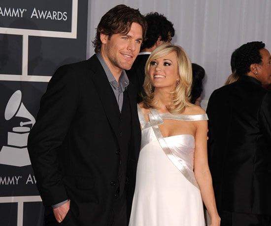 Slide Photo of Carrie Underwood with Mike Fisher on Grammys Red Carpet