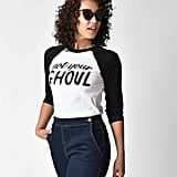 Black & White Not Your Ghoul Sleeved Cotton Raglan Tee ($36)