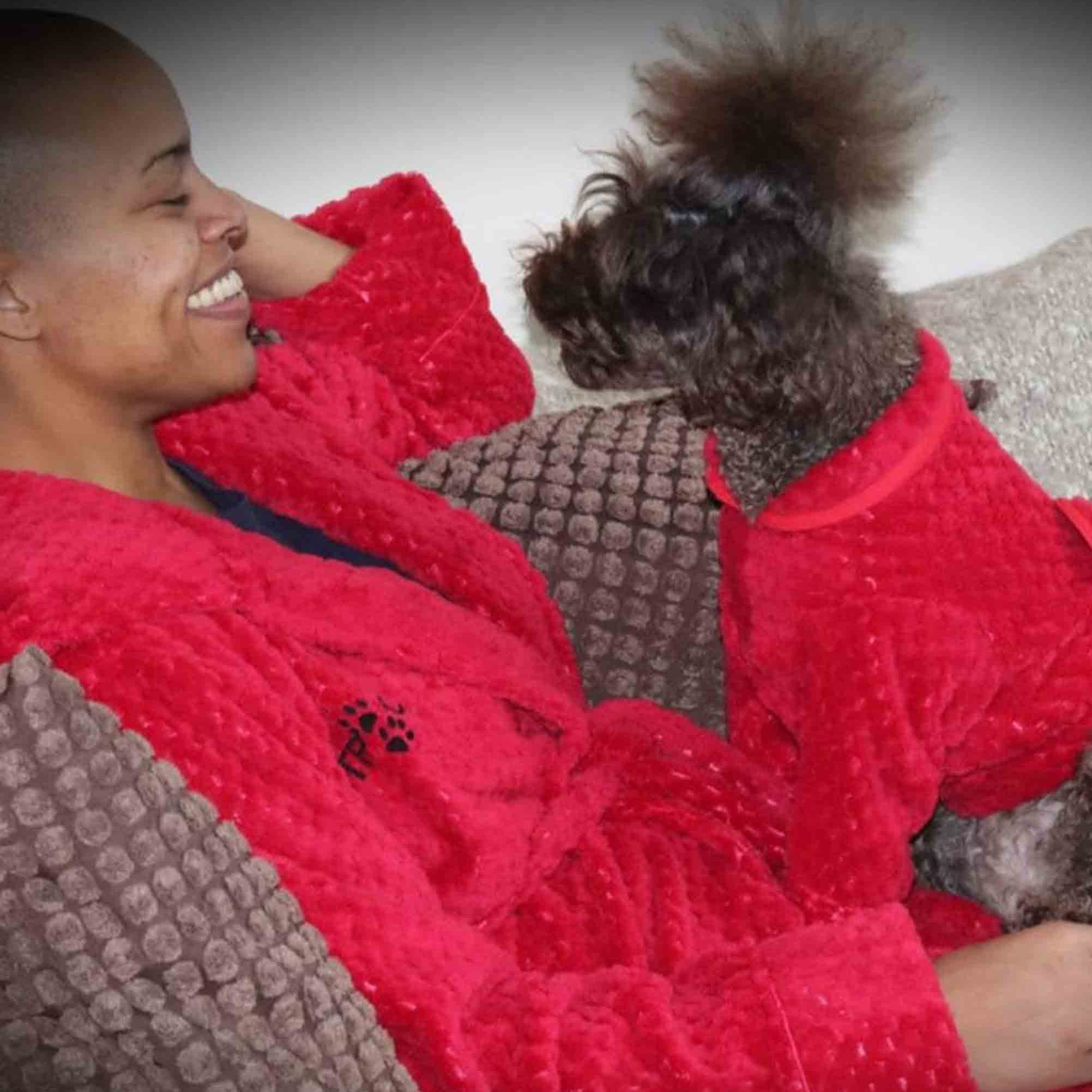 Matching Robes For Dogs And Humans On Etsy Popsugar Pets
