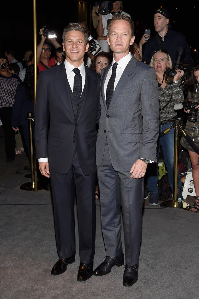 """It was date night for Neil Patrick Harris and husband David Burtka at Tom Ford's fashion show in NYC on Wednesday. The duo made a dapper appearance in coordinating suits and struck a handful of poses together before making their way inside the venue. Also in attendance were Cindy Crawford and husband Rande Gerber and longtime couple Rita Wilson and Tom Hanks. Just a day ago, the couple celebrated their two-year wedding anniversary, and Neil took to Instagram to share a screenshot of his iPhone wallpaper, which happened to be a photo from their wedding, and wrote, """"Two years ago, @dbelicious and I got hitched. Best. Decision. Ever.""""        Related:                                                                The Stars Are Dressed to the Nines For Tom Ford's Fancy Fashion Show                                                                   Neil Patrick Harris's Family Snaps Just Keep Getting Cuter                                                                   Celebrate More Than a Decade of Lovely Moments Between Neil Patrick Harris & David Burtka"""