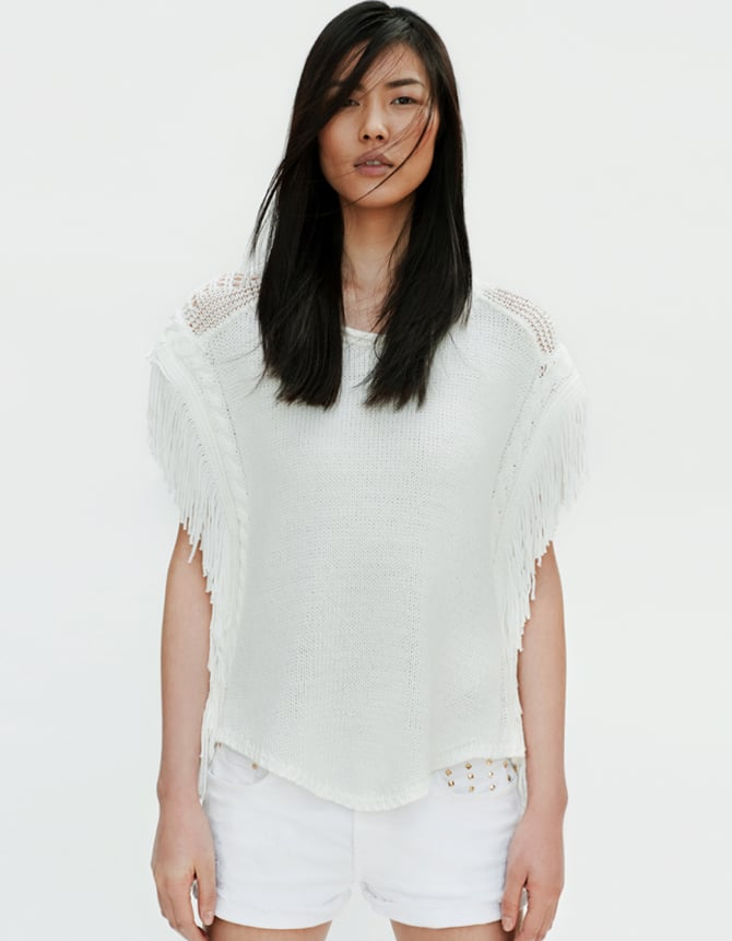 The evenings are a little chilly at Coachella so make sure to have an extra layering piece handy. This fringe poncho sweater from Zara is still festive, yet cozy.  Zara Fringe Poncho Sweater ($80)