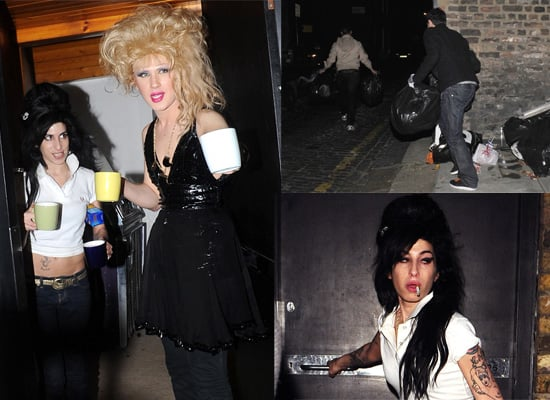 Amy Winehouse And Jodie Harsh Feed The Photographers Outside Amy's House