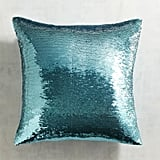 Pier 1 Imports Gold & Teal Sequined Mermaid Pillow