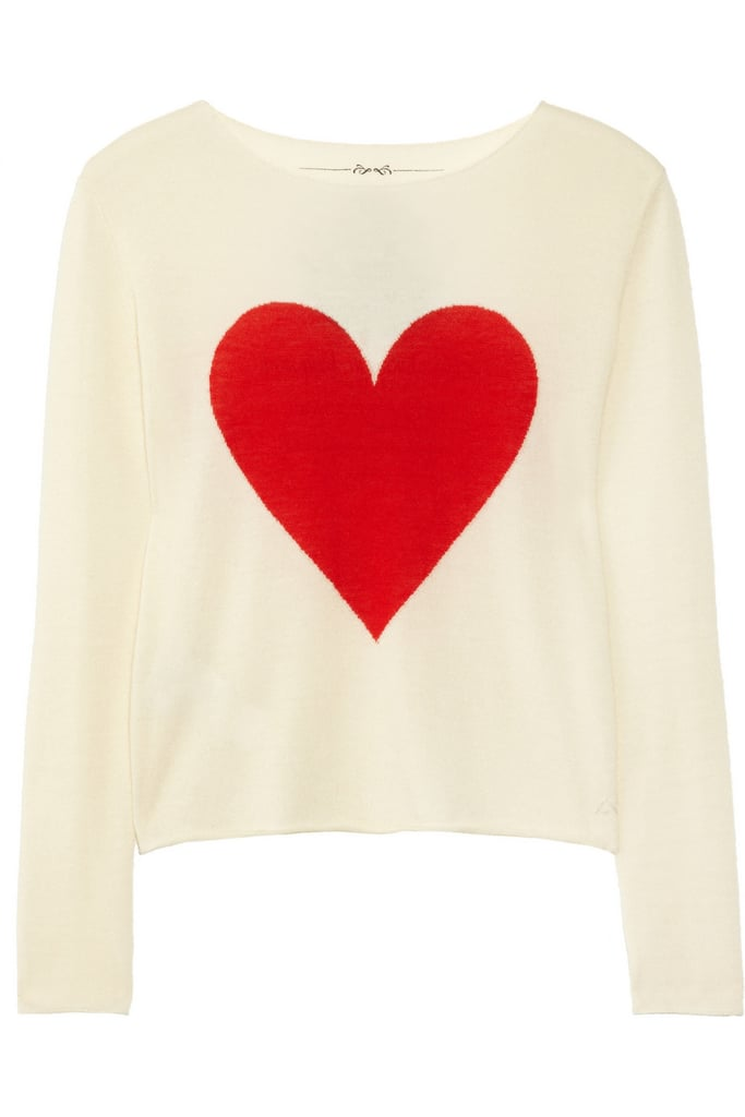 We heart this sweater for multiple reasons — mainly because it'll sweeten up anything from a printed skater skirt to a slick pair of leather leggings.  Banjo & Matilda Heart Intarsia Cashmere Sweater ($345)