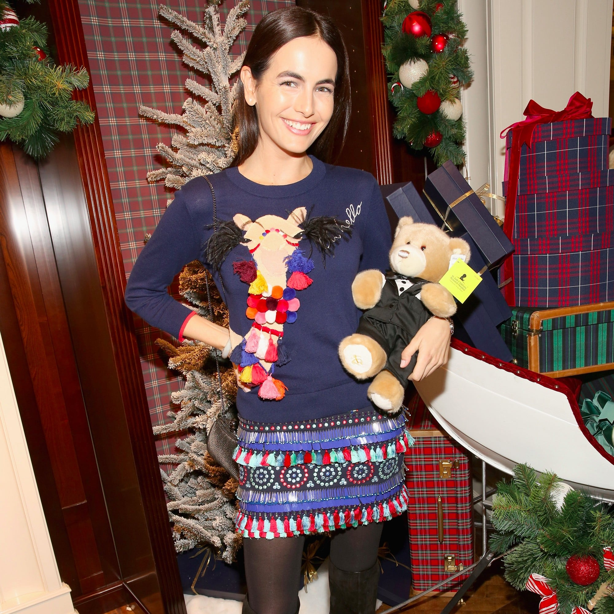 Camilla Belle\'s Kate Spade Holiday Sweater Dress Dec. 2016 ...