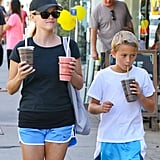 Reese Witherspoon grabbed a Sunday smoothie in LA with her son Deacon.