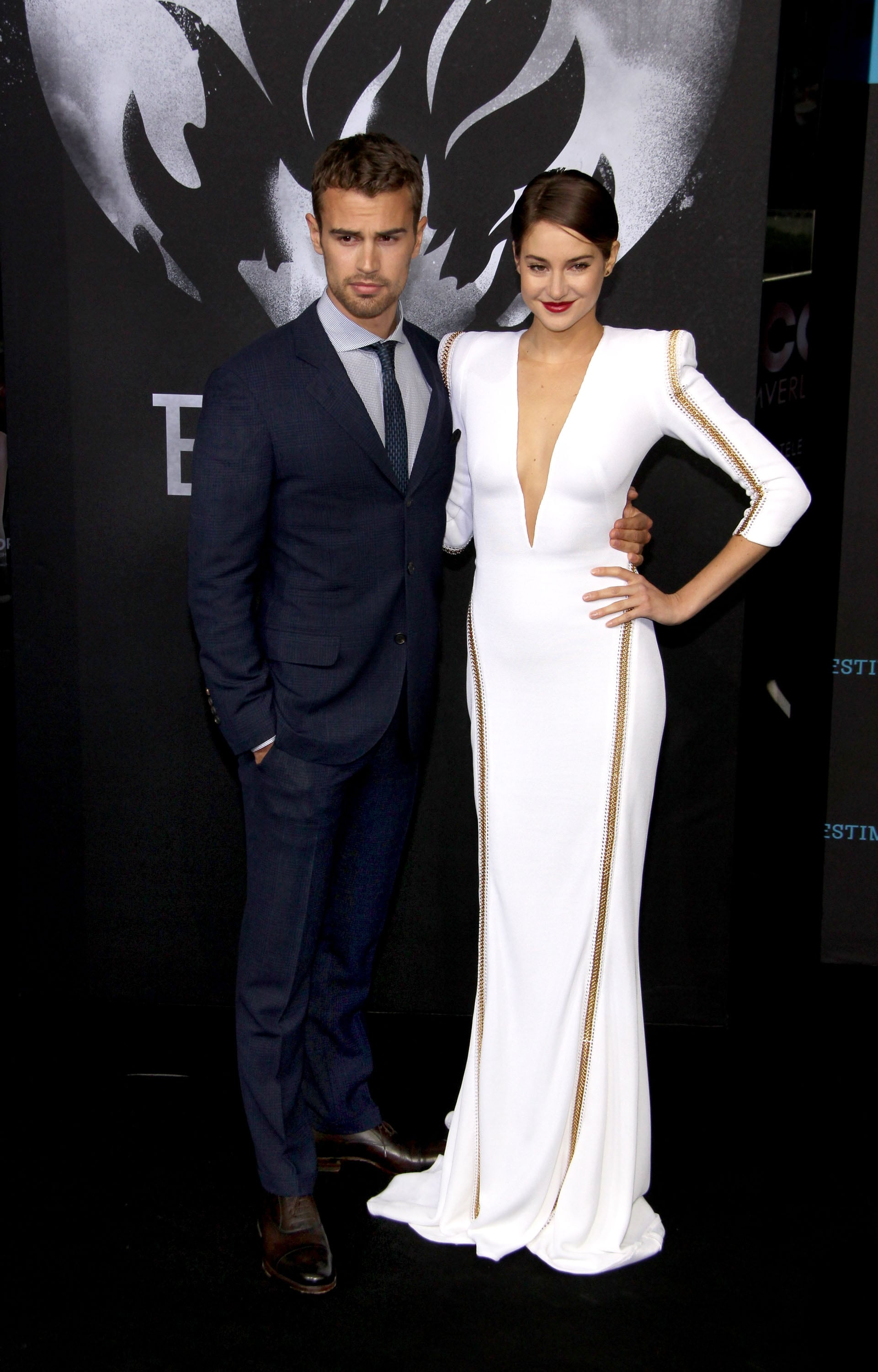 Shailene Woodley in White Zuhair Murad Gown at the 2014 Divergent Berlin Premiere