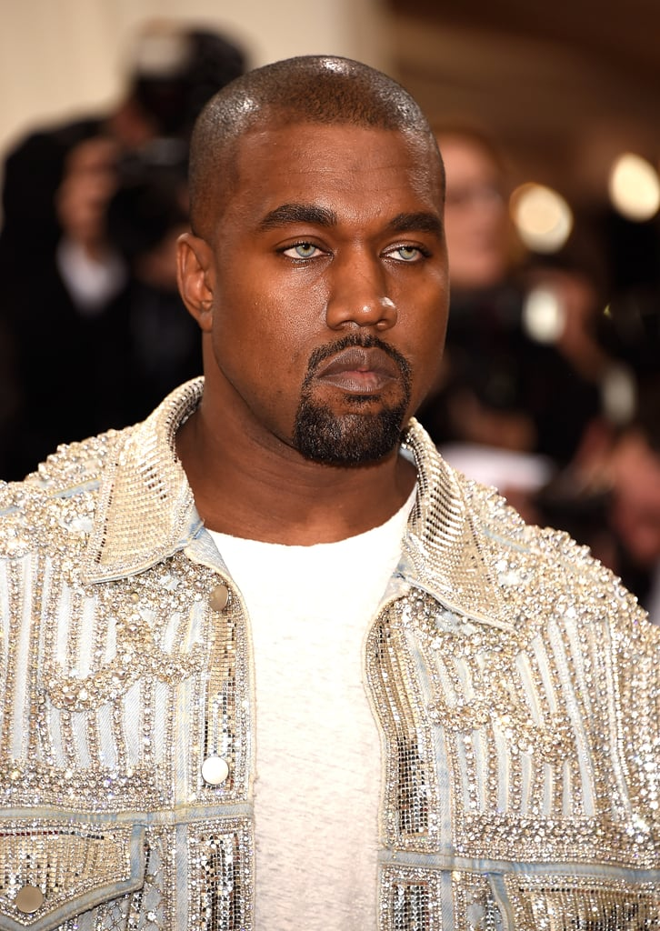 Kim Kardashian Brows and Kanye West Blue Eyes 2016 Met Gala