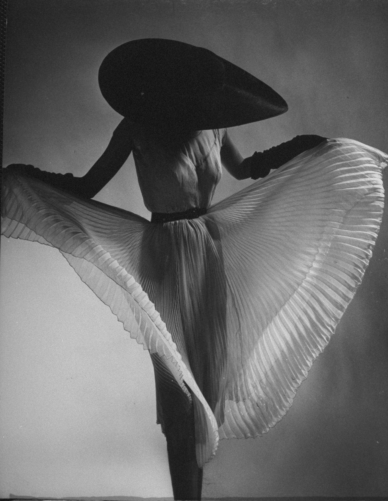 Dorian Leigh, Jane Derby dress, 1950.
