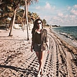 Alessandra Ambrosio took to the beach for relaxation and sunshine. Source: Instagram user alessandraambrosio