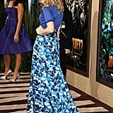 Rachel McAdams struck a pose in Peter Som.