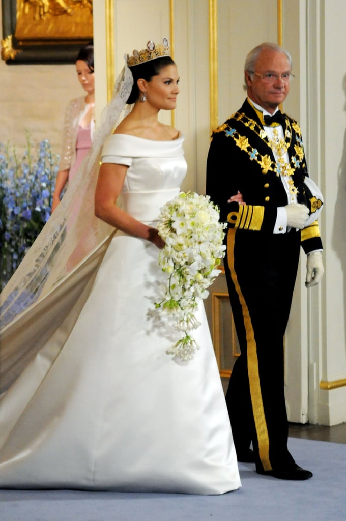 Princess Victoria and Daniel Westling The Bride: Victoria, Crown Princess of Sweden, the heiress apparent to the Swedish throne and the eldest child of King Carl XVI Gustaf and German-born Queen Silvia. The Groom: Daniel Westling, Victoria's former personal trainer and a former gym owner. When: June 19, 2010, on the 34th anniversary of Victoria's parents' marriage. Where: The wedding ceremony took place at Stockholm Cathedral. Then the couple was rowed in an antique royal barge to the royal castle for the wedding banquet.
