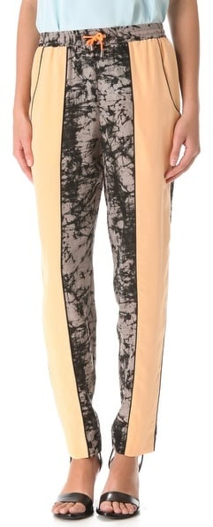 We love that Jonathan Simkhai's colorblocked track pants ($395) marry both a cool print and a fresh color.