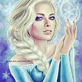 Margot Robbie as Elsa From Frozen