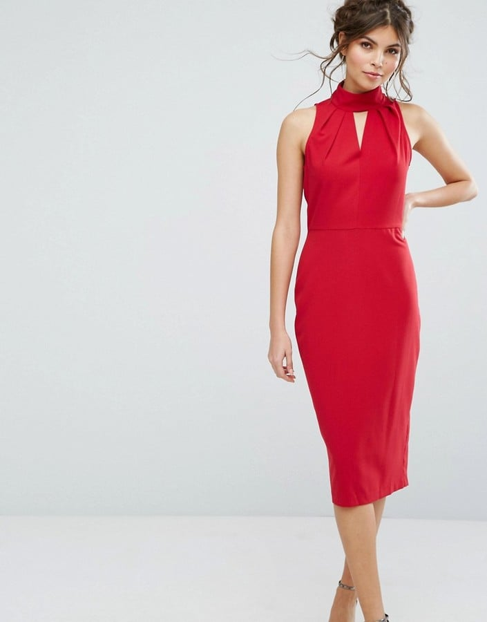 e4d9a8c5218 Closet London Midi Dress With Keyhole Detail