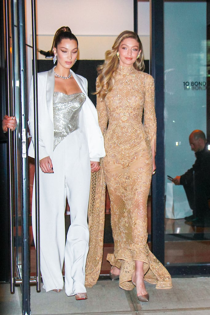 For the 2017 Glamour Women of the Year Awards, Gigi wore a gold Zuhair Murad gown and Lorraine Schwartz gold earrings.