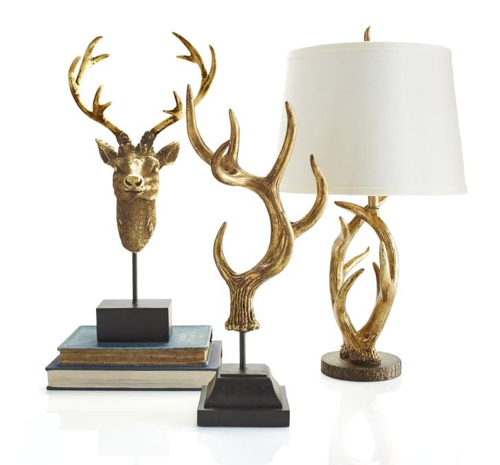 Golden Deer Head Bust ($50), Golden Antler Finial ($60