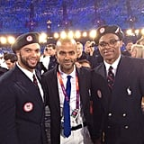 USA Dream Team players met up with France's Tony Parker inside Olympic Stadium. Source: Instagram user dwill8