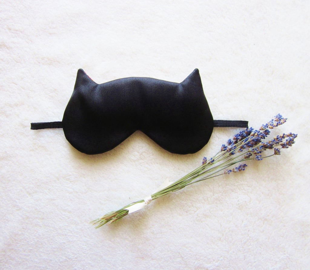 Black Satin Sleeping Mask