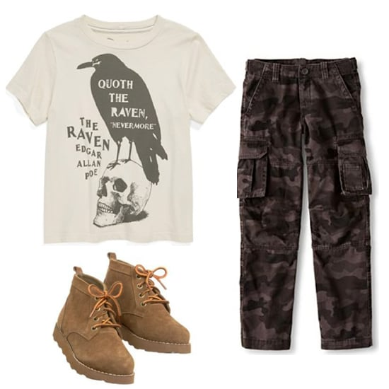 Get a similar look and suit up your little one with a  lace-up boots ($40) he'll live in all season long.