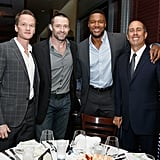Jerry Seinfeld supported the Baby Buggy Fatherhood Initiative with with famous pals Neil Patrick Harris, Hugh Jackman and Michael Strahan in New York during the week.