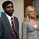 Aziz Ansari and Amy Poehler