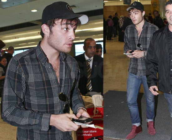 Photos of Ed Westwick Arriving in Australia